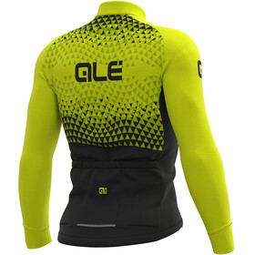Alé Cycling Solid Summit Maillot Manga Larga Hombre, black-fluo yellow